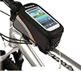 Esky Waterproof Bicycle Cycling Frame Pannier Front Tube Bag w/ Headphone Jack for iPhone 6S 6 Plus, Galaxy S6 Edge Note 5, HTC M9 and More