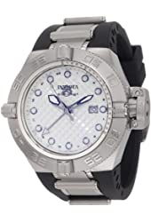 Invicta Men's 1154 Subaqua Noma IV GMT Silver Dial Black Polyurethane Watch