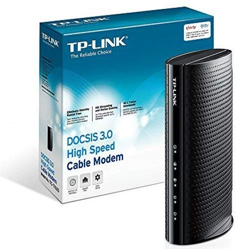 TP-Link DOCSIS 3.0 (16x4) High Speed Cable Modem, Max Download Speeds of 686Mbps, Certified for Comcast XFINITY, Time Warner Cable, Cox Communications, Charter, Spectrum (TC-7620) (Best Modem Router For Comcast Blast)
