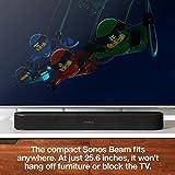 All-New Sonos Beam (Black) – Compact Smart TV