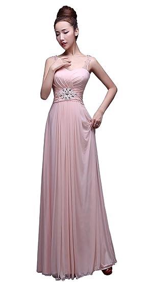 d20c83c66a DRASAWEE Shoulder Empire Floor Length Women Bridesmaid