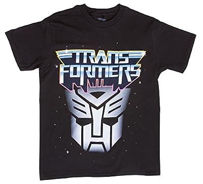 Boys Transformers Autobot Logo Black Short-Sleeve T-Shirt