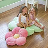 Girls Flower Floor Pillow Seating Cushion, Great for a Reading Nook, Bed Room, or Watching TV. Softer and More Plush Than Area Rug or Foam Mat. 20
