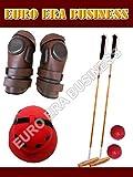 2 Root Cane Polo Mallets Cotton Twill Polo Helmet Polo Knee Guard & Arena Balls