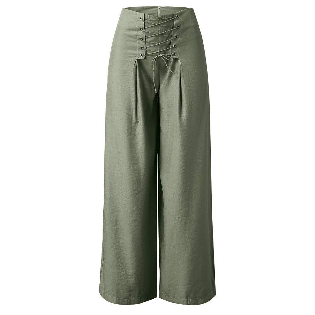 GNYD Damen Palazzo Hohe Taille Weite Beine Culottes Hosen Yoga Harem Baggy Lose Hose