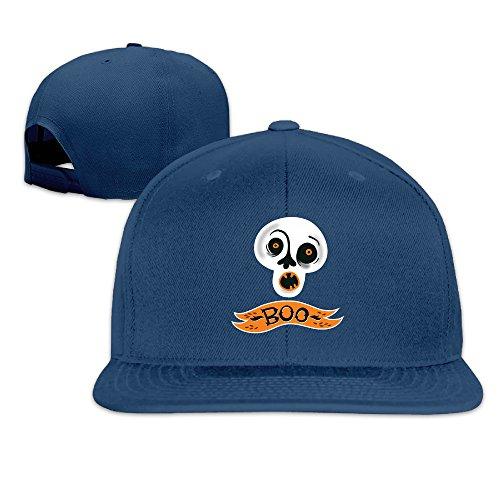 Halloween Pumpkin Boo Flat Along Baseball Cap -