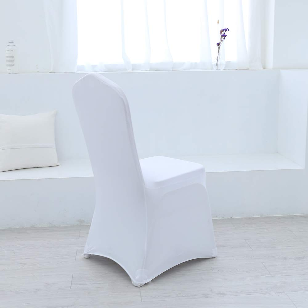 Cool Amazon Com Zdada Set Of 10 Spandex Chair Covers White Machost Co Dining Chair Design Ideas Machostcouk