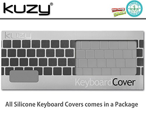 Kuzy - Keyboard Cover for New MacBook Pro with Touch Bar 13 inch and 15 inch (A2159, A1989, A1990 & A1706, A1707) Release 2019, 2018, 2017, 2016 Silicone Skin - Hebrew/English