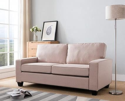 Amazon.com: New Ridge Home Goods 2000-TAN Sofa Ships in A ...
