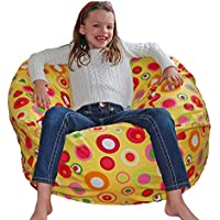 Ahh! Products Bubbly Citrus Cotton Washable Large Bean Bag Chair