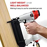 PowRyte 18 Gauge Air Brad Nailer with Tool-Free Jam Release Mechanism - 3/8-inch to 2-inch