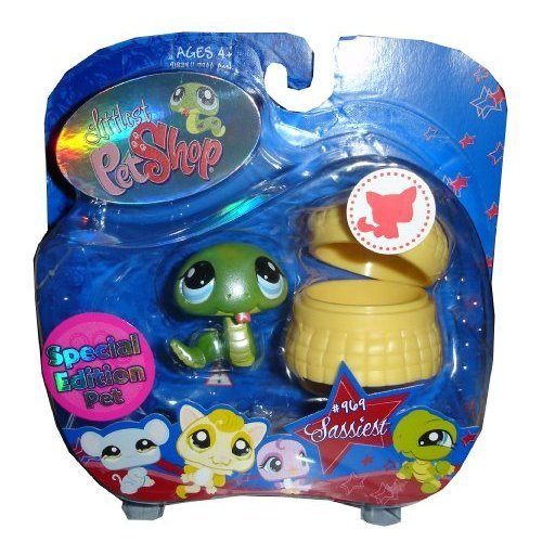 Littlest Pet Shop Assortment 'A' Series 3 Collectible Figure Snake with Basket Special Edition Pet!