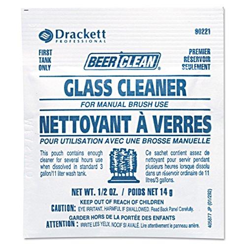 Diversey DRK 90221 DVO990221 Beer Clean Glass Cleaner, Powder, 0.5 oz. Packet (Pack of 100)
