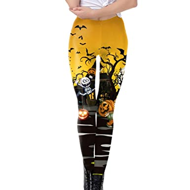 beautyjourney Leggings De Halloween Pantalones de ...