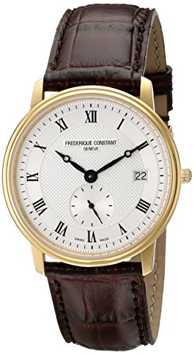 frederique-constant-slimline-mens-fc-245m4s5-designer-stainless-steel-plated-yellow-gold-watch-with-