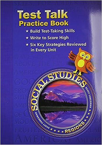 Social Studies Test Talk Practice Book Grade 4 Regions