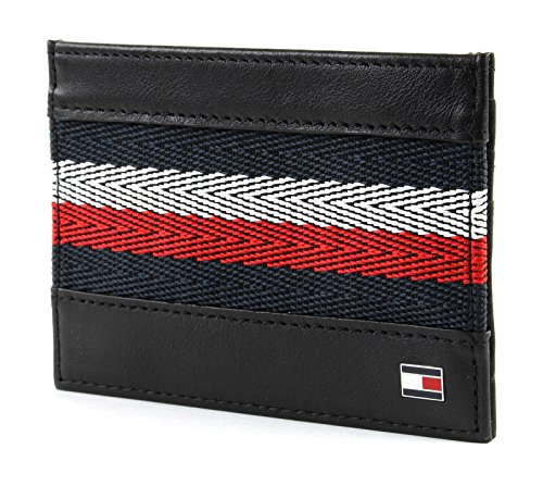 Corporate Corporate Tommy Hilfiger Stripe Black Holder Black Card Hilfiger Tommy 7wd6dRcATq