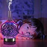 Essential oil diffuser 3D Glass Starry Sky