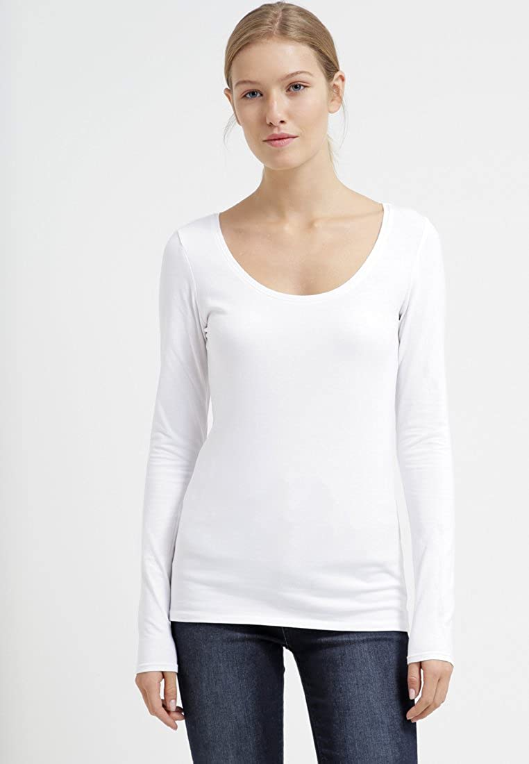a2833c7762810 Zalando Women's Long Sleeve T-Shirt with Scoop Neck Detail Pack of 3