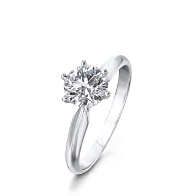 check-out 5832b 22380 diamant bague 1 carat solitaire avec diamant rapport de ...