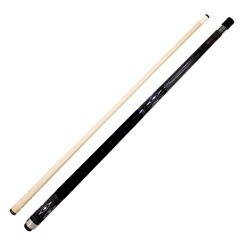 Cuetec R360 Edge Series 58'' 2-Piece Canadian Maple Billiard/Pool Cue, Grey/Black Points