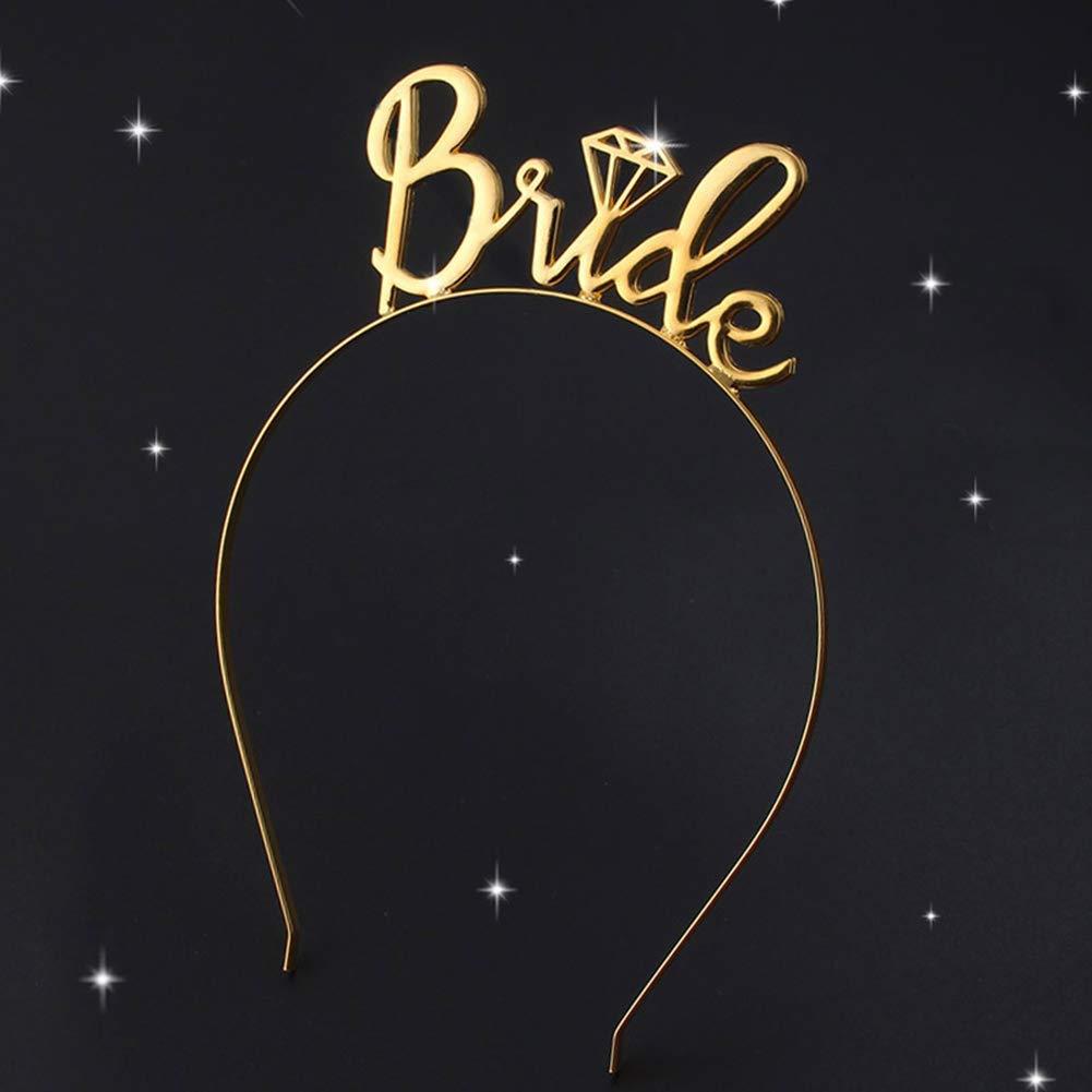 Promessa Sposa Sposa Divertente Scherzo Futura Sposa Gadget Festa Bride Lovelegis Cerchietto Addio al Nubilato Colore Oro