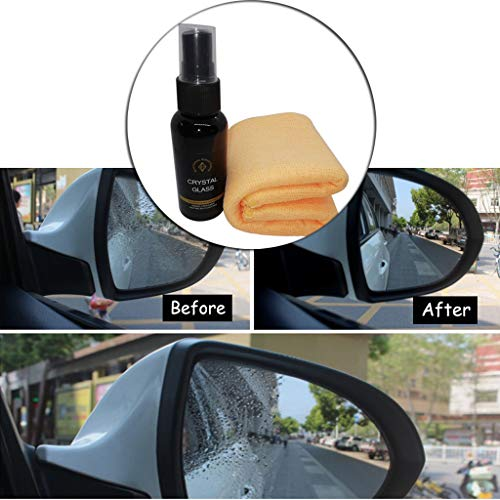 (Baomabao Coating Solution, Automotive Glass Coating Hydrophobic Coating Beauty Care Multifunctional Car Nano Glass Hydrophobic Coating Rainproof Agent 50ML Including Towels)