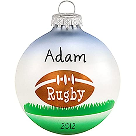 Image Unavailable. Image not available for. Color: Personalized RUGBY Glass  Ball Christmas Ornament - Amazon.com: Personalized RUGBY Glass Ball Christmas Ornament: Home