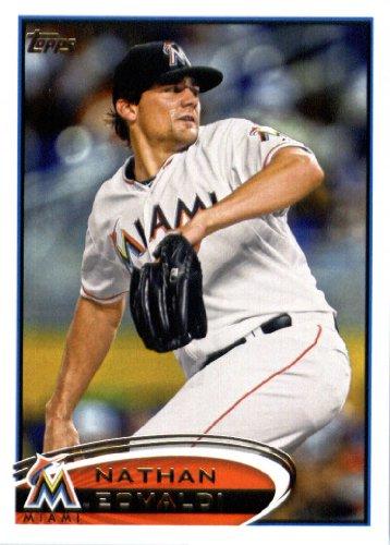 2012 Topps Update Series Baseball Card # US33 Nathan Eovaldi Miami Marlins