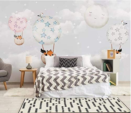 Yfxgstli Photo Wallpaper Kids Wall Murals For Bedrooms Wall Decoration Fox Hot Air Balloon Girl Bedroom Children Room Background Wall W274xh254cm Amazon Co Uk Kitchen Home