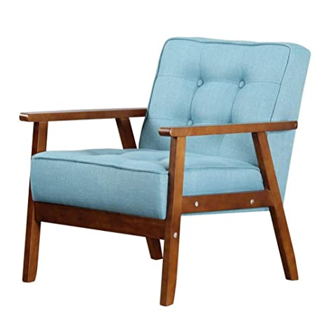 Amazon.com: CJC Chairs Solid Wood, Oil Wax Leather/Linen ...