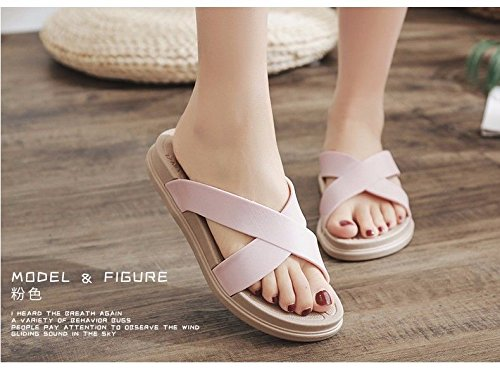 women's Pink British outdoor drag LIUXINDA sandals Fashion students' XZ fashion cute summer slippers sandals q6waOX