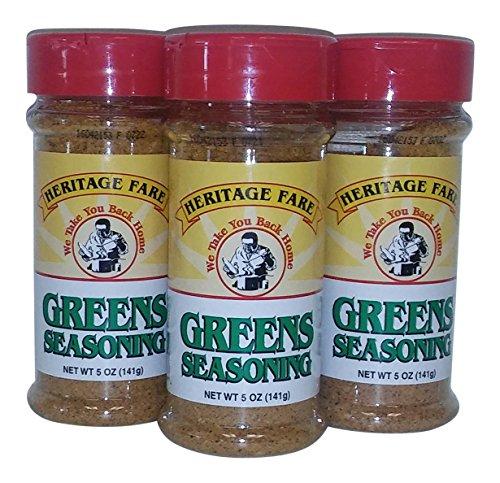 Heritage Fare Greens Seasoning 5 oz-Pack of 3 ()