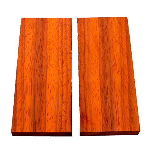 Padauk Knifes Scales, Bookmatched Handle blank Exotic Knife Scales Wood ()