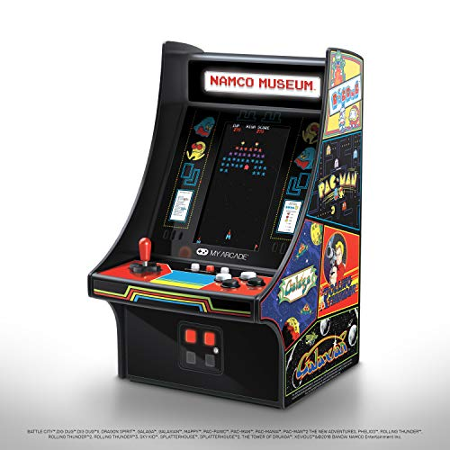 My Arcade Namco Museum Mini Player - 10 Inch Retro Arcade Machine Cabinet - Includes 20 Games - Pac-Man, Dig Dug, Galaga, Galaxian, Mappy, Rolling Thunder and More - Licensed Collectible