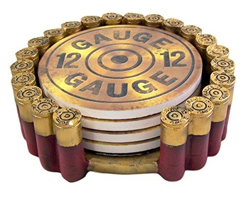 12 Gauge Shotgun Shell Coaster Set 1 3/4 Inch