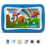 7 inch Kids Tablet PC, Android 5.1 Lollipop Quad Core Tablet External 3G, 8GB ROM 1GB RAM, Wifi Bluetooth USB Dual Camera Games Kidoz(with Blue Silicone Case)