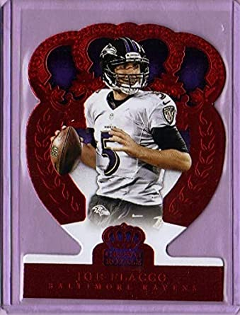 uk availability 7d584 d527f Amazon.com: 2014 Crown Royale Retail Red #84 Joe Flacco ...