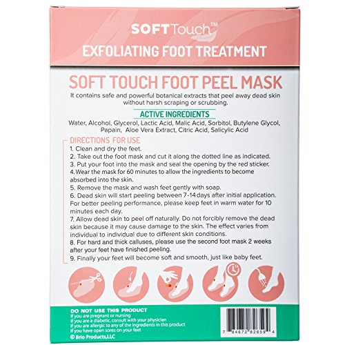 Soft-Touch-Foot-Peel-Mask-Exfoliating-Callus-Remover-2-Pairs-Per-Box