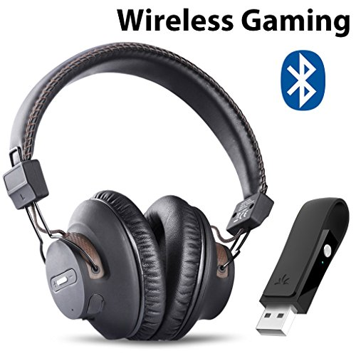 - Avantree DG59 Wireless Gaming Headphones with Mic & USB Audio Adapter, Chat & Music Simultaneously, No Audio Delay, 40hrs Play Time, Bluetooth Headset for PS4, PC, Nintendo Switch, Computer