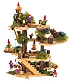 Rustic Wooden Tree Fort with Accessories, 34 Pieces, Baby & Kids Zone