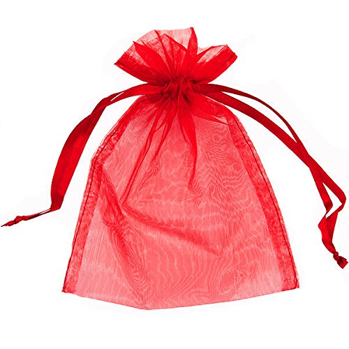 100 ORGANZA BAGS 7CM X 9CM WEDDING FAVOUR BAGS, GIFTS, JEWELLERY, FAVOURS, 15 COLOURS AVAILABLE*UK SELLER* 15 COLOURS AVAILABLE (BLACK 7cmx9cm) HOUSWEETY