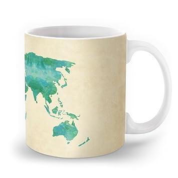 Amazon society6 watercolor world map mug 11 oz samantha ranlet society6 watercolor world map mug 11 oz gumiabroncs Gallery