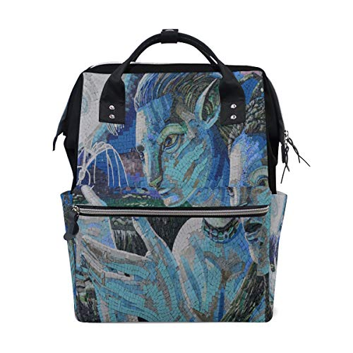 Diaper Bags New Mosaic Designs Fashion Mummy Backpack Multi Functions Large Capacity Nappy Bag Nursing Bag for Baby Care for - Pak Mummy