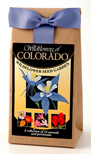 Colorado Wildflowers - Seed Mix - a beautiful collection of twelve annuals & perennials - Enjoy the natural beauty of Colorado flowers in your own home garden - includes the Blue Columbine by Wildflower Company