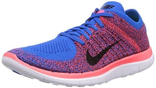 Nike Free 4.0 Flyknit PHT BL/BLK-HYPR PNCH-UNVRSTY RED (US 8.5)