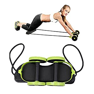Darhoo Sport Core Double AB Roller Wheel Fitness Abdominal Exercises Equipment Waist Slimming Trainer At Home Gym