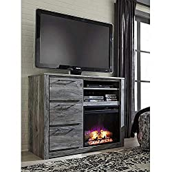 Ashley Express Signature Design by Ashley W100-101 Entertainment Accessories Fireplace Insert Infrared, Black by Ashley Furniture Industries