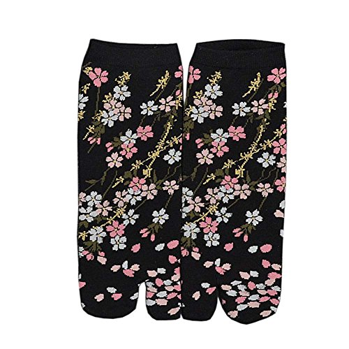 Japanese Style Kimono Sandal Split Toe Tabi Ninja Geta Socks Kimono Socks, S-05