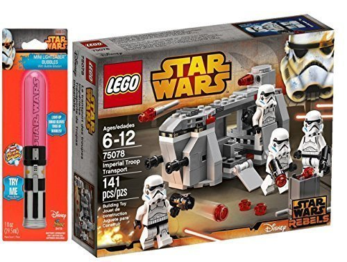 LEGO Star Wars Imperial Troop Transport Bundle with Darth Vader Lightsaber Bubbles